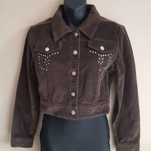 ⭐Vintage⭐Bling Brown Corderoy Jacket